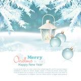 Предпосылка с Рождеством Христовым & Нового Года торжества Стоковое Изображение