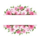 Предпосылка с розовыми розами. бесплатная иллюстрация