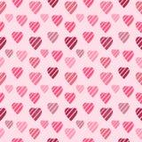 Предпосылка с розовыми сердцами Стоковые Фотографии RF