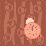 Предпосылка с розовым сигналом тревоги Стоковое фото RF