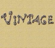 Предпосылка с рукописной винтажной cream предпосылкой с античными отказами Стоковое Изображение
