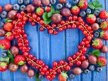 Предпосылка с свежими ягодами Стоковое Фото