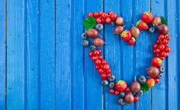 Предпосылка с свежими ягодами Стоковые Фотографии RF