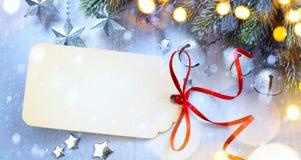 Предпосылка с светом рождества, рождество рождества искусства играет главные роли Стоковое Изображение