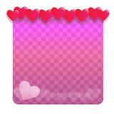 Предпосылка с сердцами - иллюстрация Стоковая Фотография RF