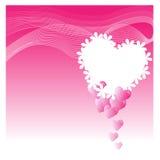 Предпосылка с сердцами - иллюстрация Стоковое Изображение RF