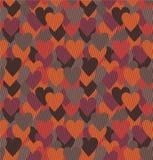 Предпосылка с сердцами Стоковое Изображение RF