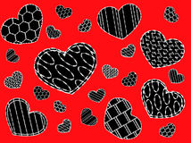 предпосылка с сердцами Стоковое Фото