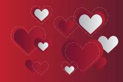 Предпосылка с сердцами Стоковое фото RF