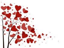 Предпосылка с сердцами Стоковые Изображения