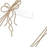 Предпосылка с смычком и лентами веревочки Стоковая Фотография RF