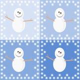 Предпосылка с снеговиками Стоковые Фотографии RF