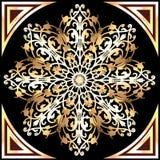 Предпосылка с снежинками золота и блестящими драгоценностями Стоковое фото RF