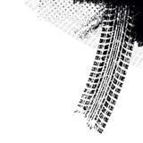 Предпосылка с следом автошины черноты grunge, Стоковое Изображение