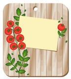 Предпосылка с томатами на разделочной доске Стоковая Фотография RF