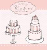 Предпосылка с тортами Стоковое Изображение