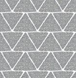 Предпосылка с треугольниками серебряного яркого блеска, безшовной картины Стоковая Фотография RF