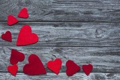 Предпосылка с формами сердца Стоковое Изображение RF