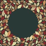 Предпосылка с цветастыми листьями Стоковое Изображение RF