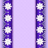 Предпосылка с цветками жемчуга и нашивки для текста Стоковые Фото