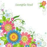 Предпосылка с цветками Стоковые Изображения RF