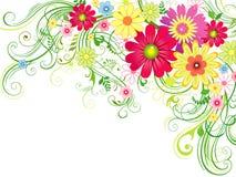 Предпосылка с цветками Стоковые Изображения