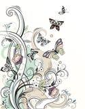 Предпосылка с цветками Стоковая Фотография