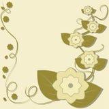Предпосылка с цветками Стоковое Изображение