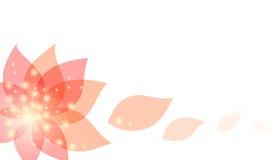 Предпосылка с цветком. Объект с путем клиппирования Стоковые Фото