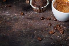 Предпосылка с чашкой кофе Стоковые Фотографии RF