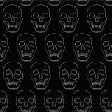 Предпосылка с черепами Стоковая Фотография RF