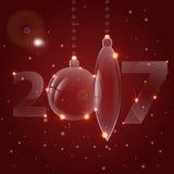 Предпосылка с шариками рождества Стоковая Фотография RF