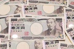 Предпосылка с японскими деньгами Стоковые Изображения RF