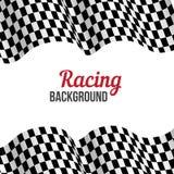 Предпосылка с checkered флагом гонок. Стоковая Фотография