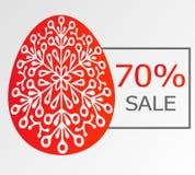 Предпосылка с ornamentical яичком и продажей Стоковая Фотография RF