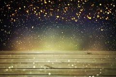 Предпосылка таблицы рождества Деревянная предпосылка Стоковые Фотографии RF