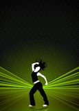Предпосылка танцульки пригодности Zumba иллюстрация штока