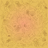 Предпосылка тварей моря (коричневый цвет) стоковое фото rf