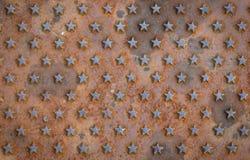 Предпосылка текстурированная звездой ржавая Стоковые Изображения