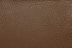 Предпосылка текстуры Брайна кожаная grained Стоковое фото RF