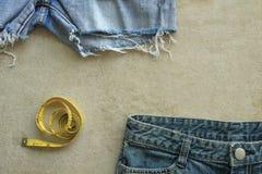 Предпосылка текстуры голубых джинсов Стоковое Изображение RF