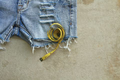 Предпосылка текстуры голубых джинсов Стоковое фото RF