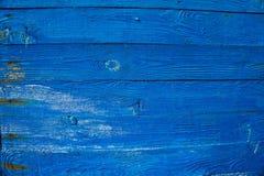Предпосылка текстуры деревянной планки голубая Стоковые Фотографии RF