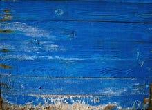 Предпосылка текстуры деревянной планки голубая Стоковая Фотография
