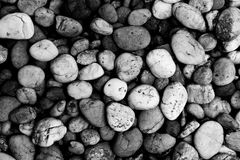 Предпосылка текстуры каменных обоев, черно-белая Стоковое Фото