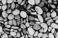 Предпосылка текстуры каменных обоев, черно-белая Стоковые Фото