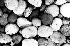 Предпосылка текстуры каменных обоев, черно-белая Стоковое Изображение