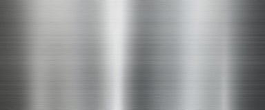 Предпосылка текстуры металла в серебре стоковые изображения