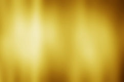 Предпосылка текстуры металла золота с горизонтальными луч светами Стоковые Изображения RF