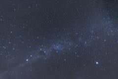 Предпосылка текстуры млечного пути звезды Стоковые Фото